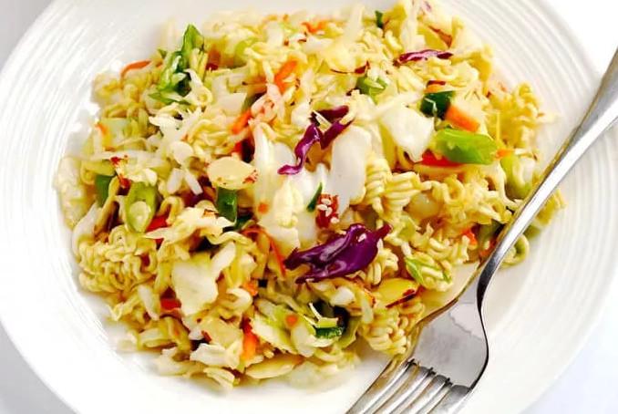 Easy Oriental Ramen Noodle Salad Coleslaw Recipe
